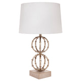 Lela Table Lamp Antique Silver