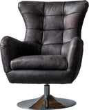 Kenny Swivel Chair Antique Ebony