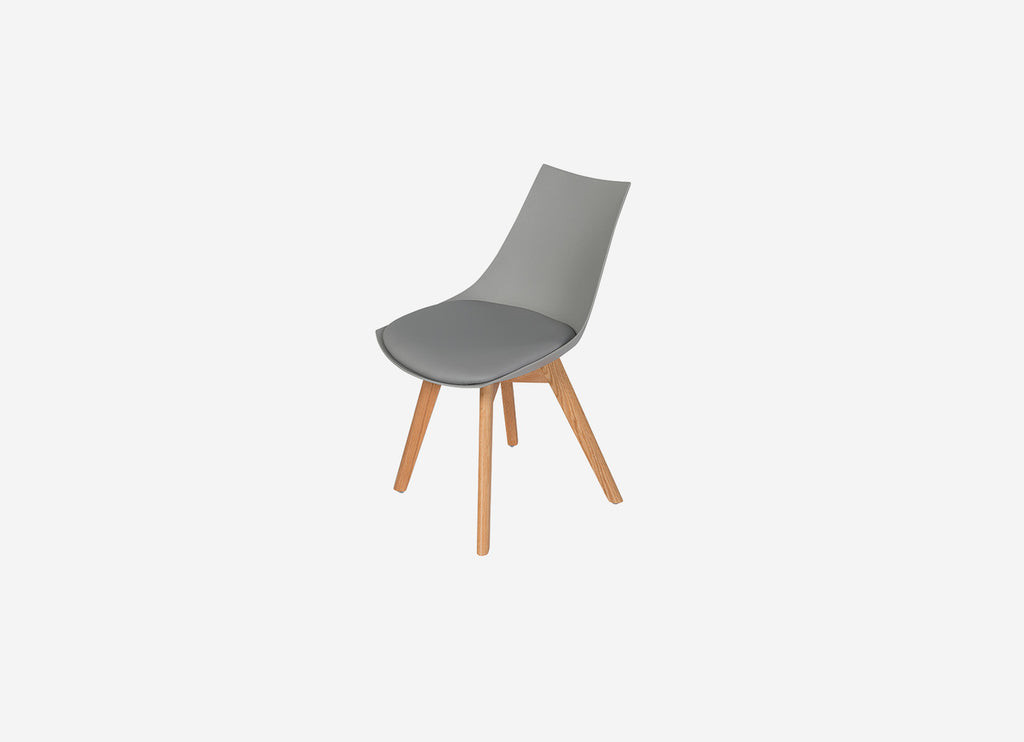 Vita Dining Chair Grey with Oak