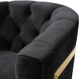 Fairfax Armchair Black Velvet