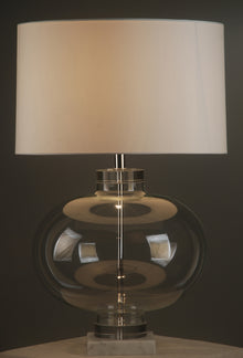 Argent Table Lamp with White Shade