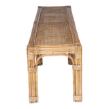 Swain Rattan 2 Seat Bench with Cushion