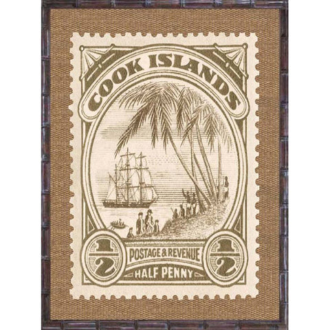 Tropical Island Postage Stamp Print 1