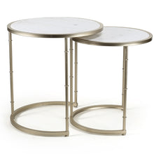 Edgar Set/2 Marble Tables