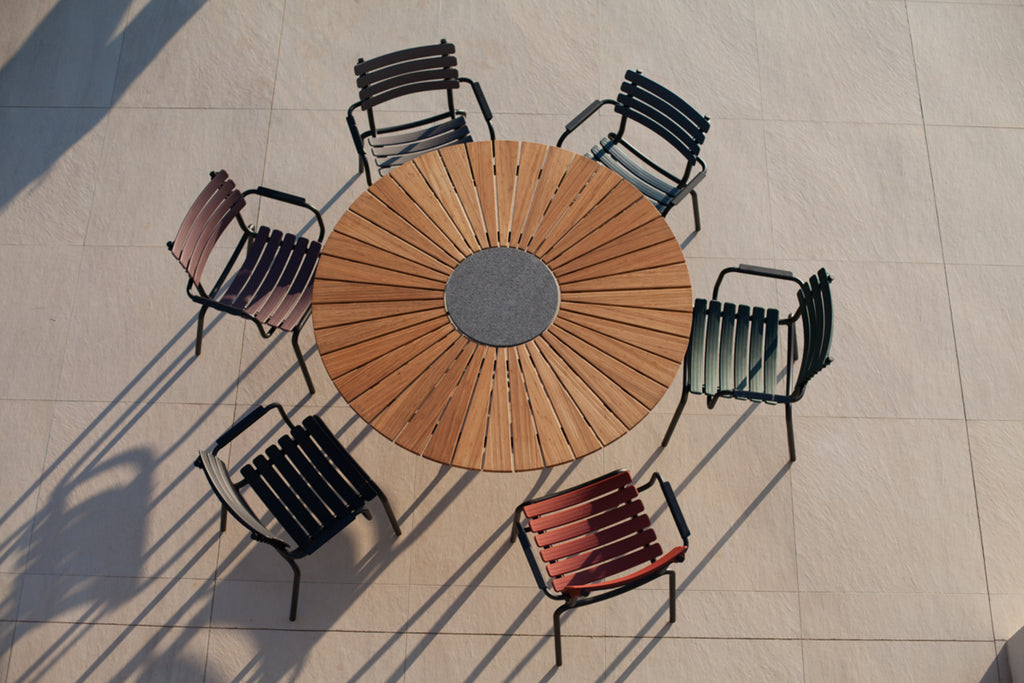 Circle Outdoor Dining Table 110cm Dia