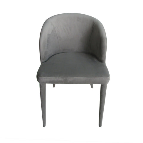 Gwyneth Dining Chair Grey Velvet