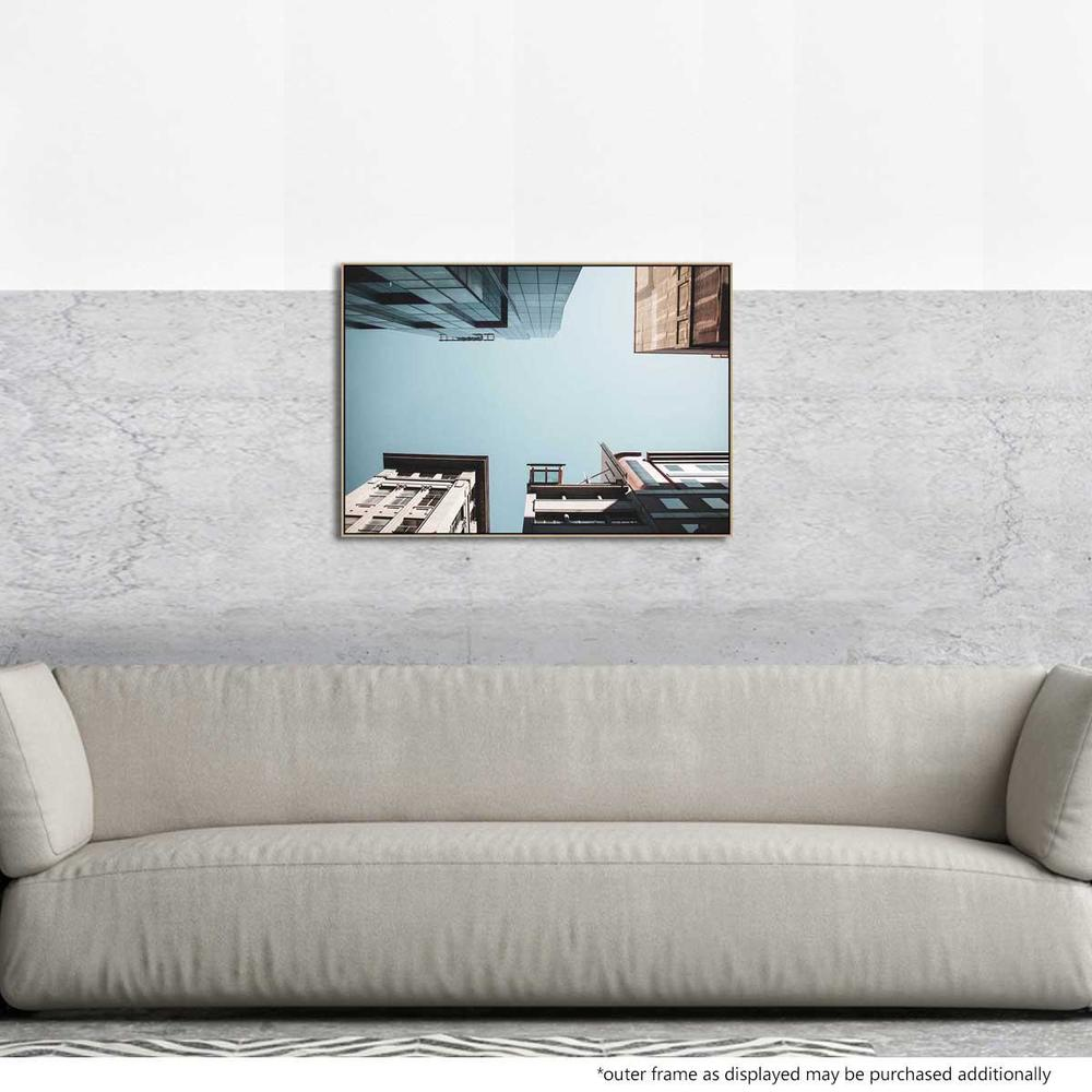 Flinders Lane Canvas Print with Floating Frame