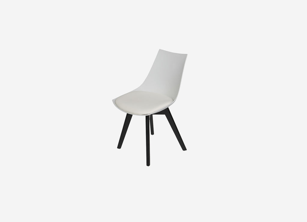 Vita Dining Chair White with Black
