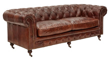Vintage Leather Court Chesterfield 3 Seater