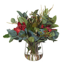 Waratah Mix in Greta Vase Red