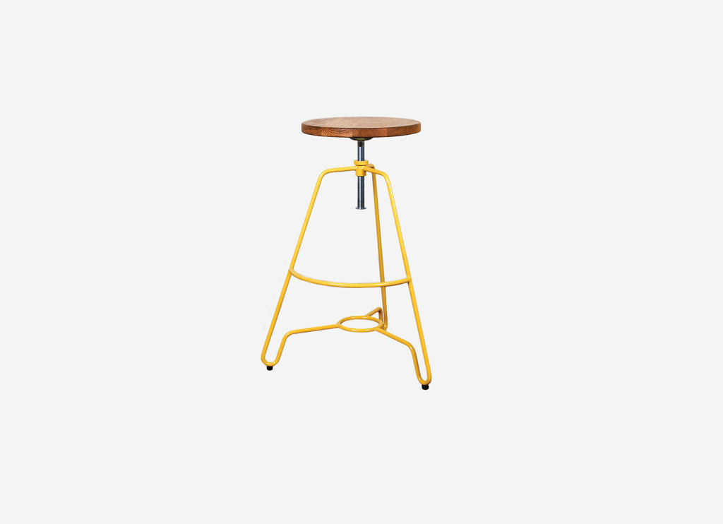 Industrial High Stool Yellow