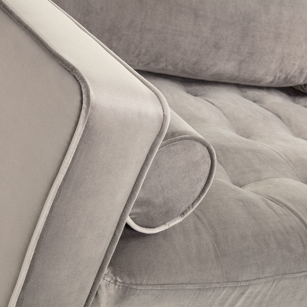 Humphrey Sofa Grey Velvet