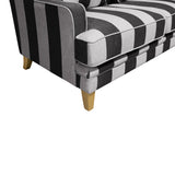 Shoreham Grey and Cream Stripe 2 Seat Sofa