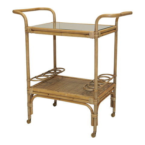 Hunter Rattan Bar Trolley