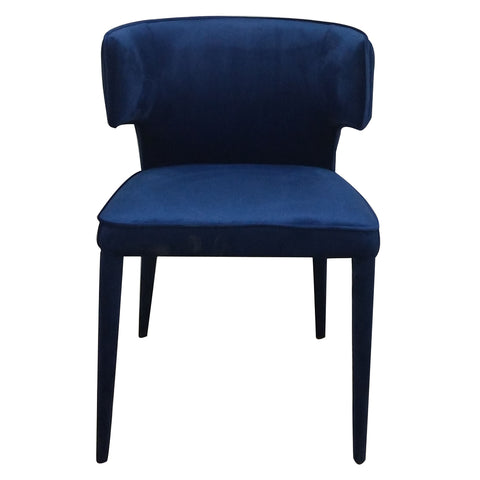 Minori Dining Chair Navy Velvet