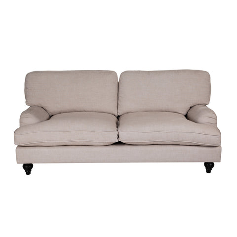 Classic Roll Arm 2.5 Seater French Linen Sofa