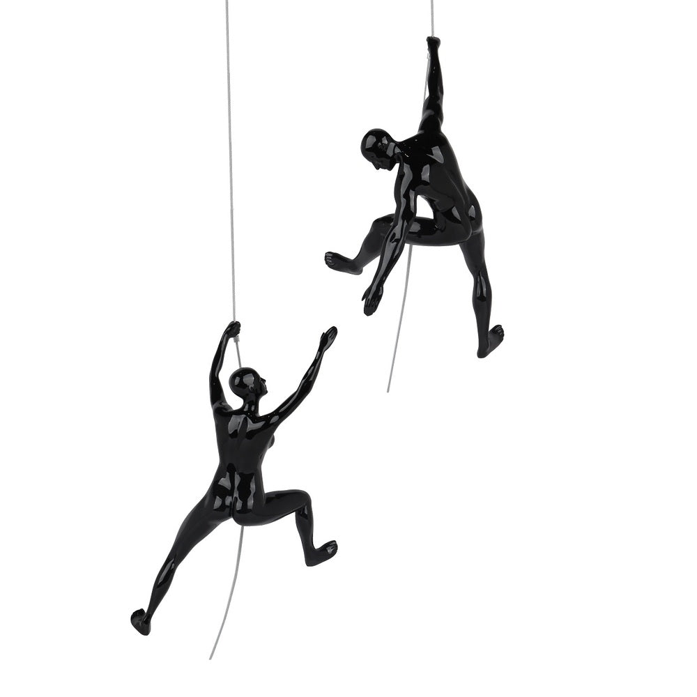 Climbing Sculpture Set/2 Black Gloss