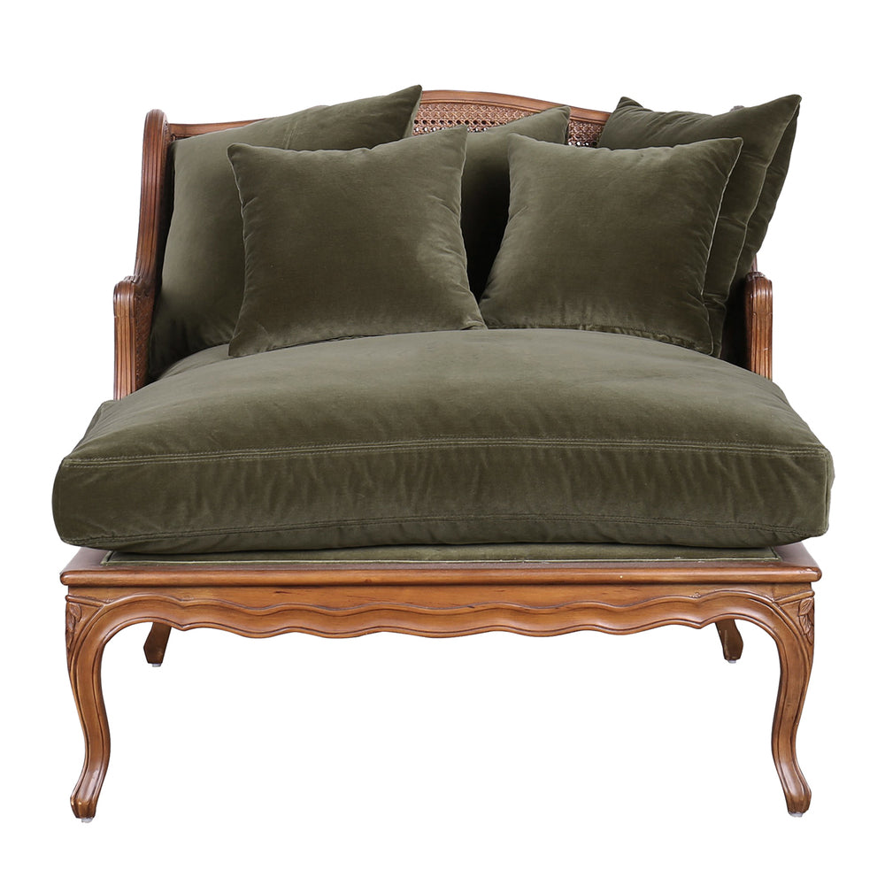 Roma Chaise Lounge Olive Green