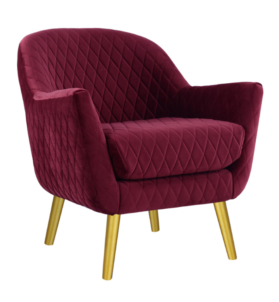 Club Chair Shiraz with Gold Legs