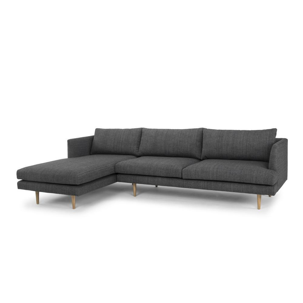 Antony Modular Sofa Charcoal Left Hand Chaise