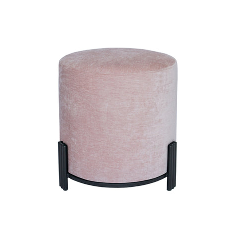 Paxton Ottoman/Low Stool Velo Blush with Black Base