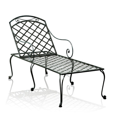 St Tropez Wrought Iron Sun Lounger