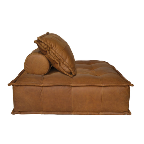Zephyr Lounger Cognac Leather
