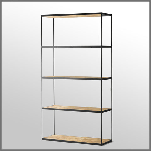 Atticus Shelving Unit Large Black