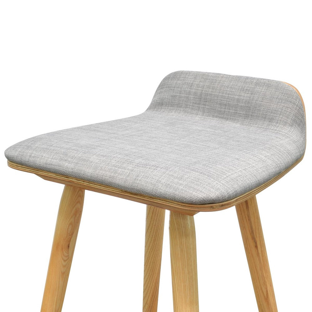 Todd Low Back Stool Grey Natural Interiors Online