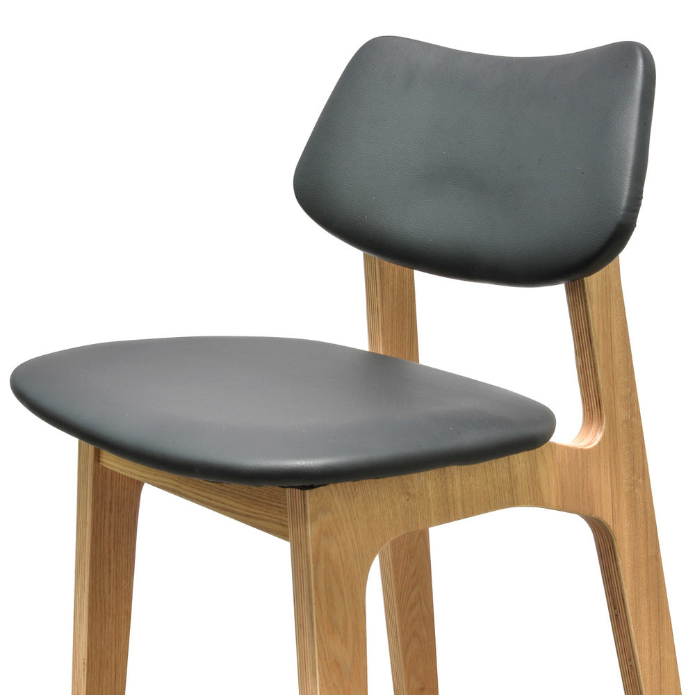 Todd High Back Stool Black/Natural