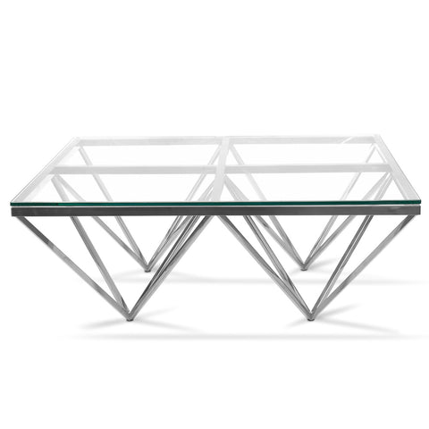Pyramid Coffee Table Square Gold