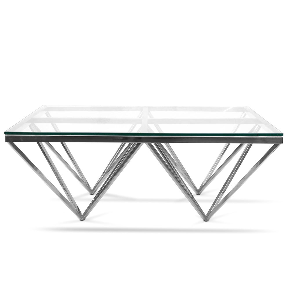 Pyramid Coffee Table Square Silver