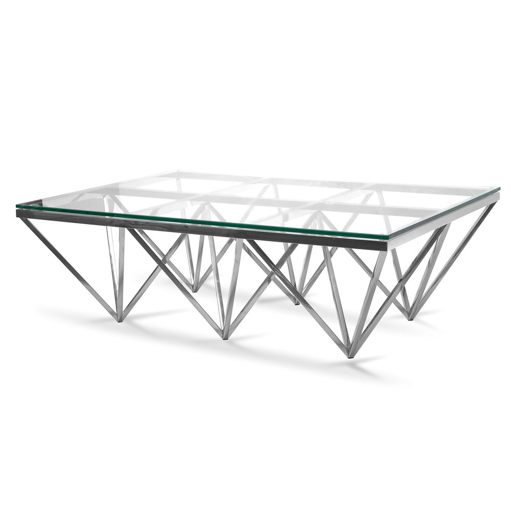 Pyramid Coffee Table Rectangular Silver