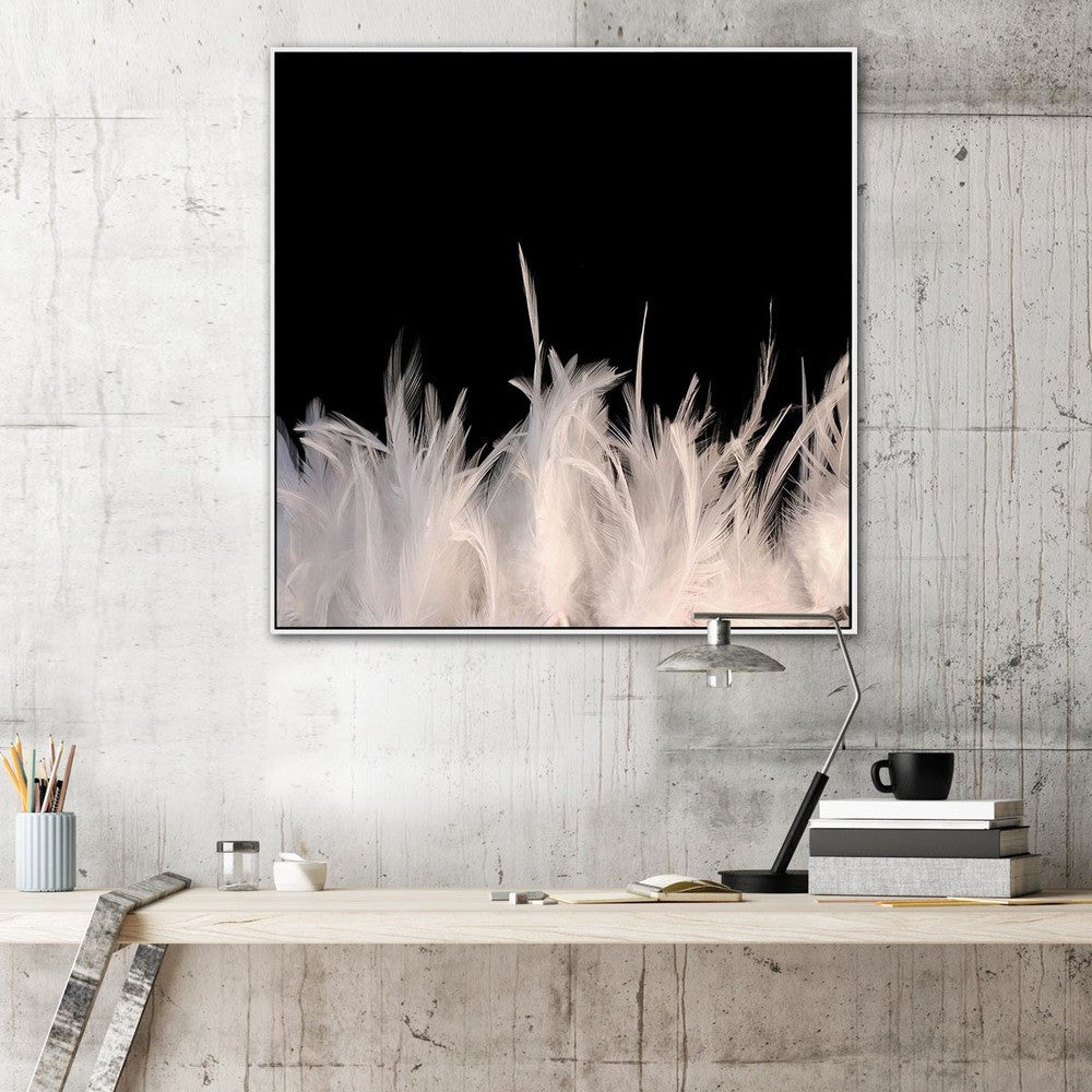 Feather Strong Photographic Canvas Print with Floating Frame
