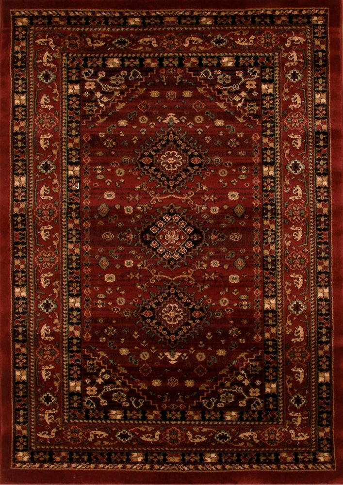 Traditional Shiraz Design Rug Burgundy Red
