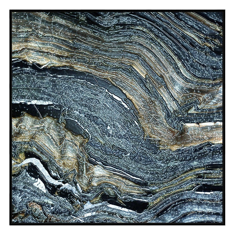 Mineral Digital Photographic Canvas Print with Floating Frame