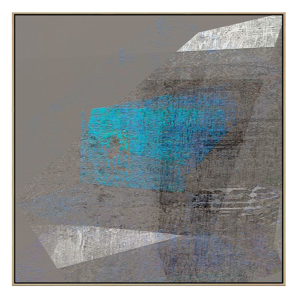 Fin Blue Canvas Print with Floating Frame