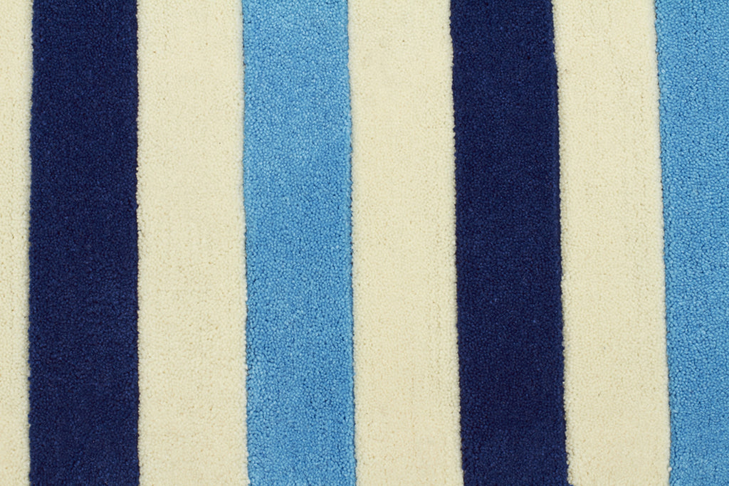 Nautical Stripes Blue Rug