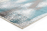 Hannah Matrix Rug Blue Grey