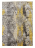 Hannah Matrix Rug Yellow Grey