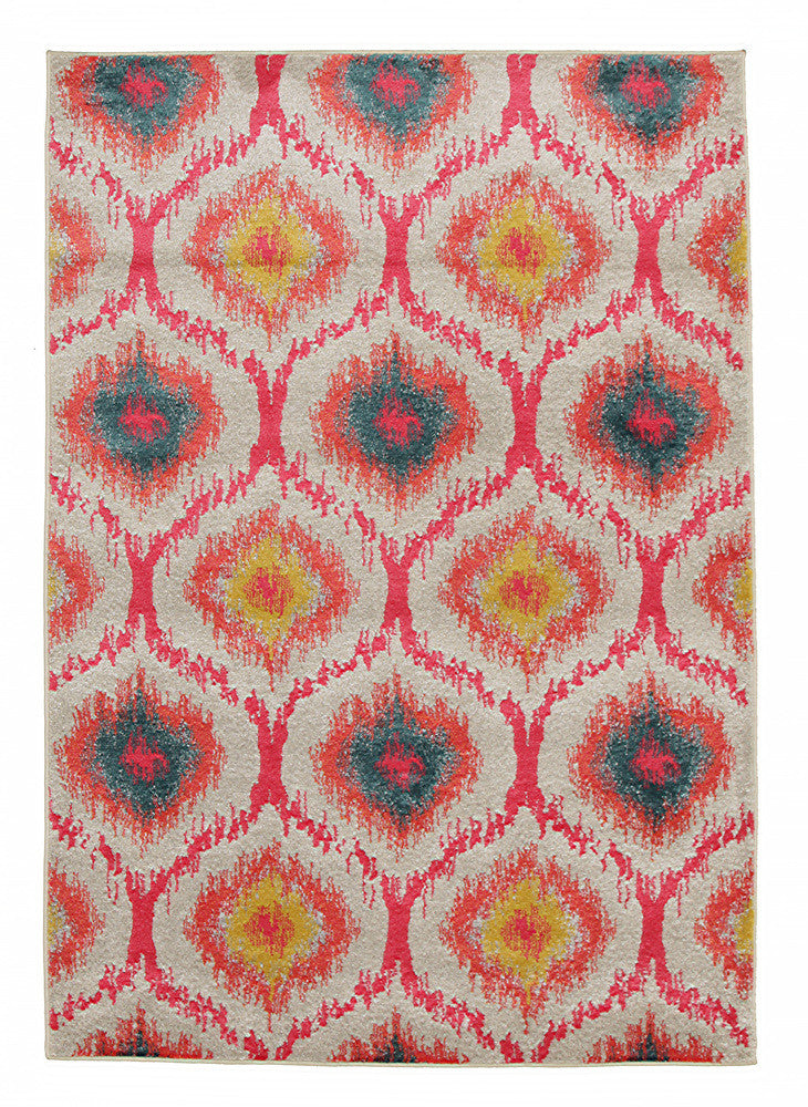 Gypsy Heirloom Rug Pink Yellow Grey