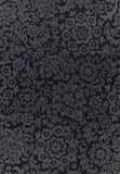Indoor Outdoor Fine Damask Design Rug Black