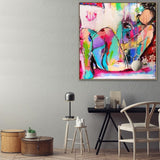 Nude Polly Canvas with Floating Frame