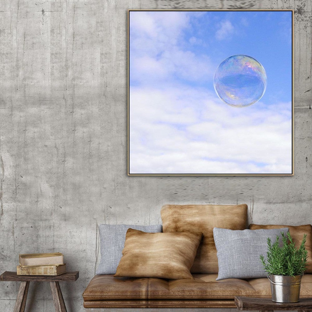 Cloud Bubble Canvas Print with Floating Frame