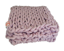 Hand Made Knitted Plaid Dusty Pink