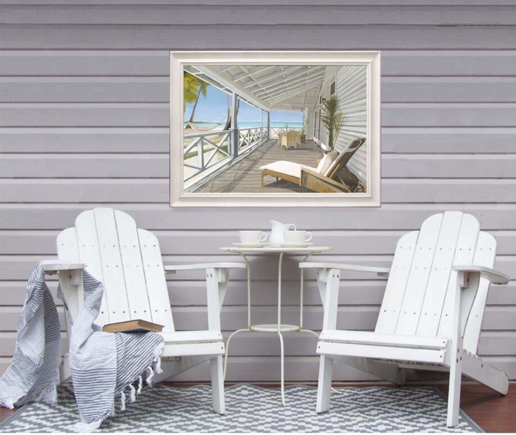 Hamptons Beach Huts Print