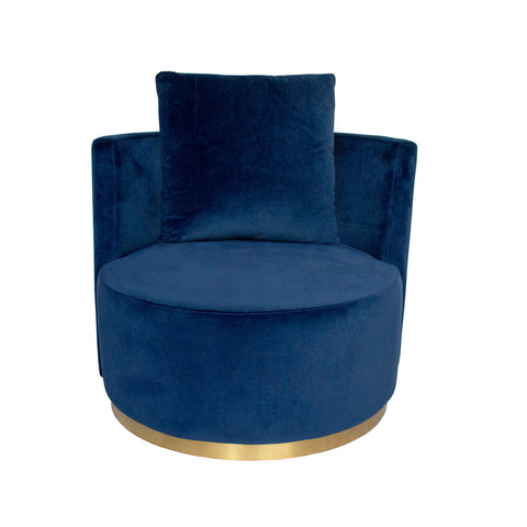 Tribeca Armchair Clay with Champagne Frame