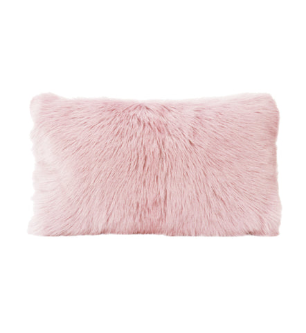 Goat Fur Cushion Orchid