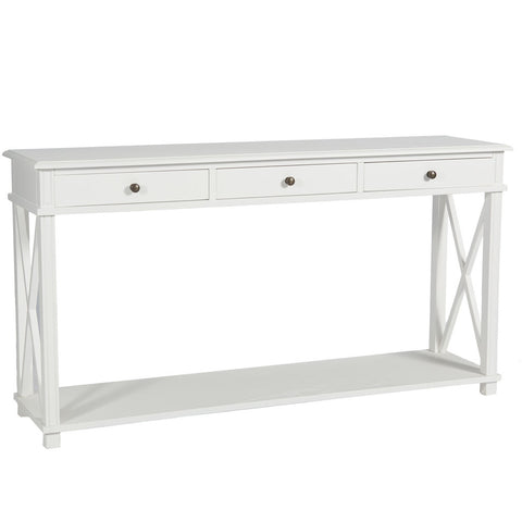 Manto Large Bedside Table White