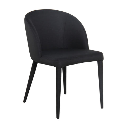 Gwyneth Dining Chair Black Velvet